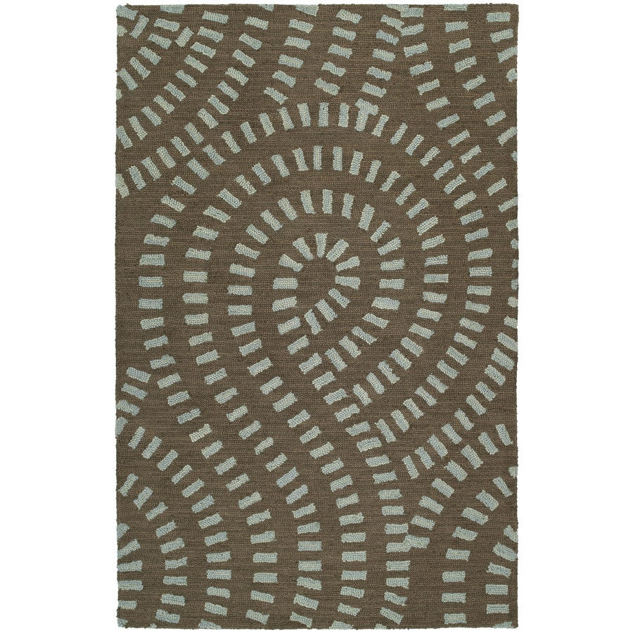 Kaleen Carriage Spa Rectangular Indoor Handcrafted Nature Area Rug (Common: 5 x 7; Actual: 5-ft W x 7.75-ft L)