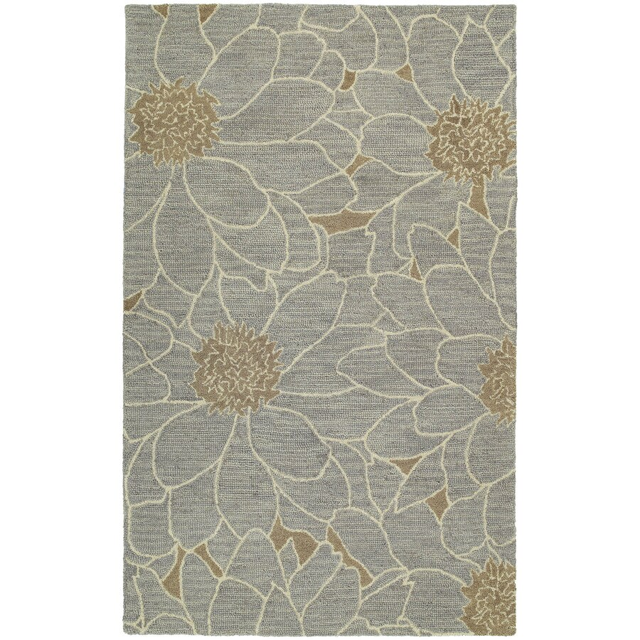 Kaleen Carriage Blue Rectangular Indoor Tufted Area Rug (Common: 5 x 8; Actual: 60-in W x 93-in L)