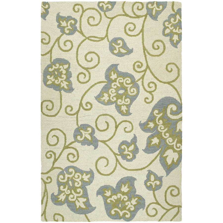 Kaleen Carriage Ivory Rectangular Indoor Handcrafted Nature Area Rug (Common: 5 x 7; Actual: 5-ft W x 7.75-ft L)