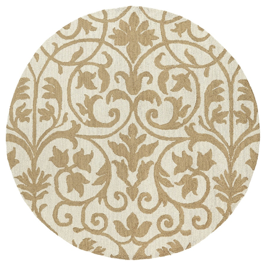 Kaleen Carriage Brown Round Indoor Handcrafted Nature Area Rug (Common: 8 x 8; Actual: 7.75-ft W x 7.75-ft L)