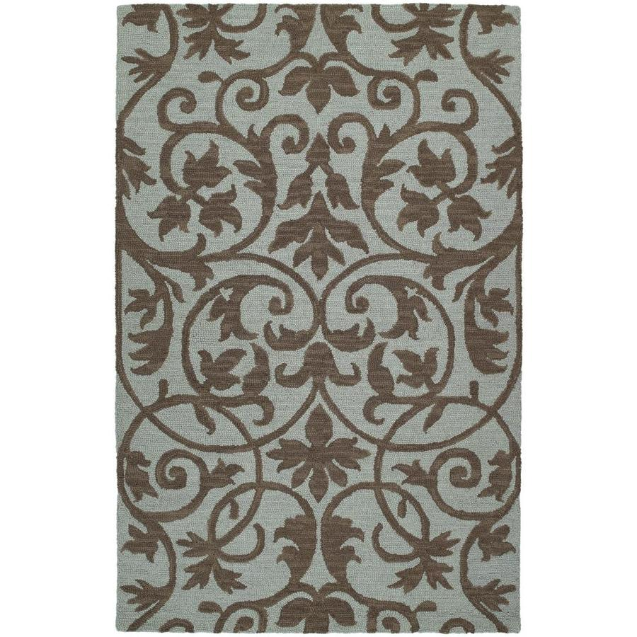 Kaleen Carriage Spa Rectangular Indoor Handcrafted Nature Area Rug (Common: 9 x 12; Actual: 9-ft W x 12-ft L)