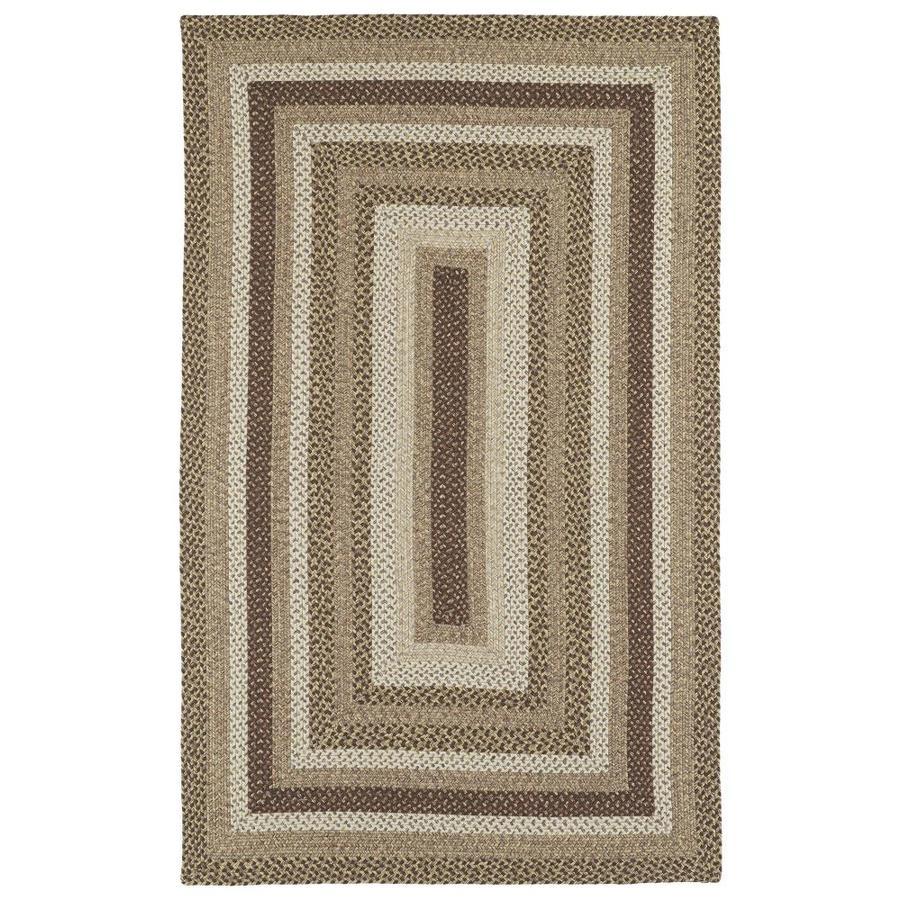 Kaleen Bimini Mocha Rectangular Indoor/Outdoor Handcrafted Novelty Throw Rug (Common: 3 x 5; Actual: 3-ft W x 5-ft L)