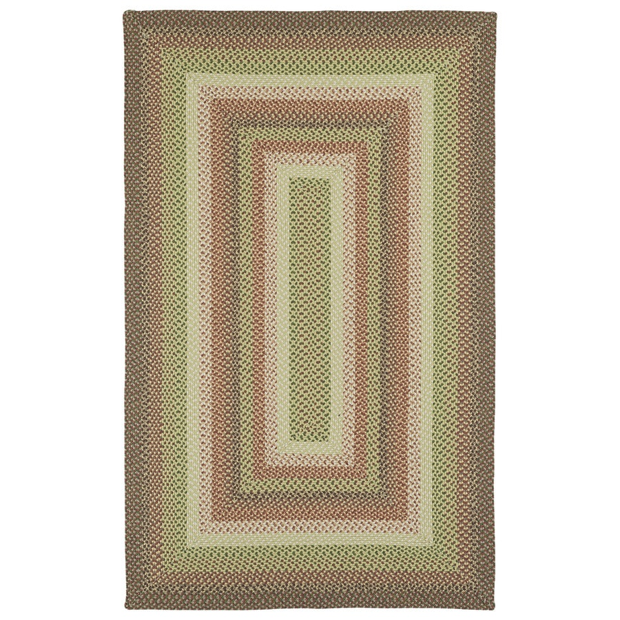 Kaleen Bimini Sage Rectangular Indoor/Outdoor Handcrafted Lodge Area Rug (Common: 5 x 7; Actual: 5-ft W x 8-ft L)