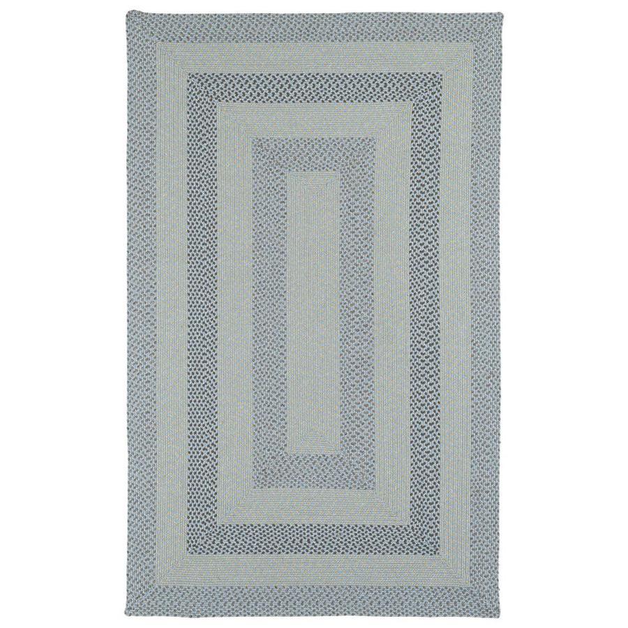 Kaleen Bimini Blue Indoor/Outdoor Handcrafted Novelty Throw Rug (Common: 2 x 3; Actual: 2-ft W x 3-ft L)