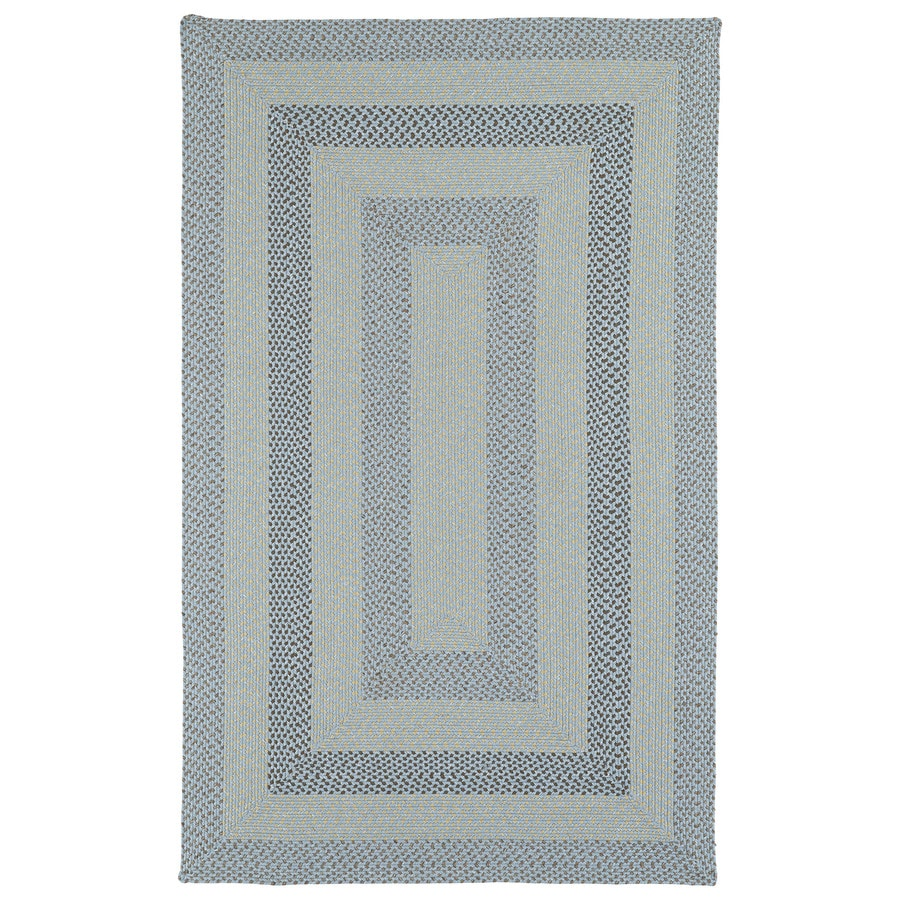 Kaleen Bimini Blue Rectangular Indoor/Outdoor Handcrafted Lodge Area Rug (Common: 5 x 8; Actual: 5-ft W x 8-ft L)