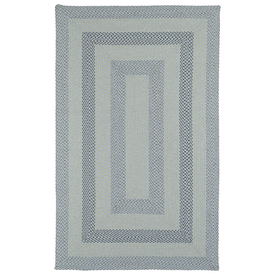 Kaleen Bimini Blue Rectangular Indoor and Outdoor Hand-Hooked Area Rug (Common: 8 x 11; Actual: 96-in W x 132-in L)