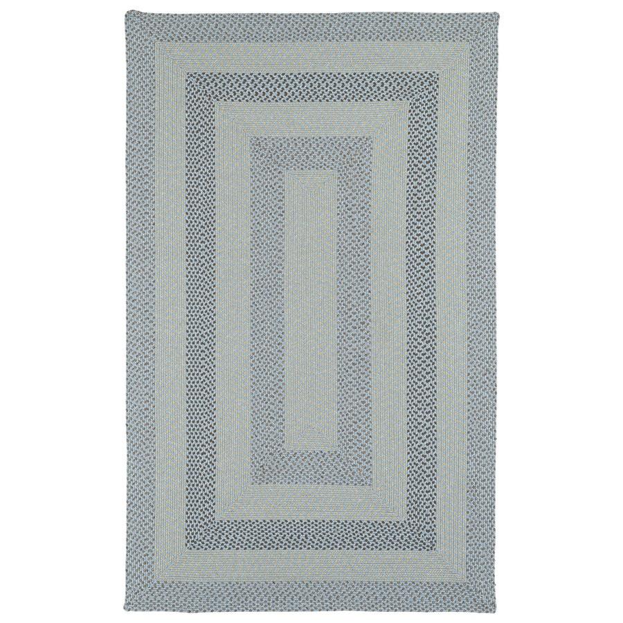 Kaleen Bimini Blue Rectangular Indoor/Outdoor Handcrafted Lodge Area Rug (Common: 9 x 12; Actual: 9-ft W x 12-ft L)