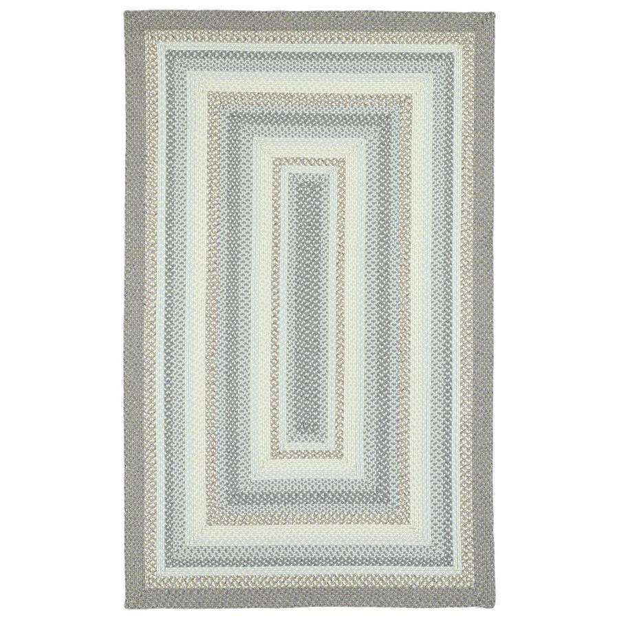 Kaleen Bimini Graphite Indoor/Outdoor Handcrafted Novelty Throw Rug (Common: 2 x 3; Actual: 2-ft W x 3-ft L)