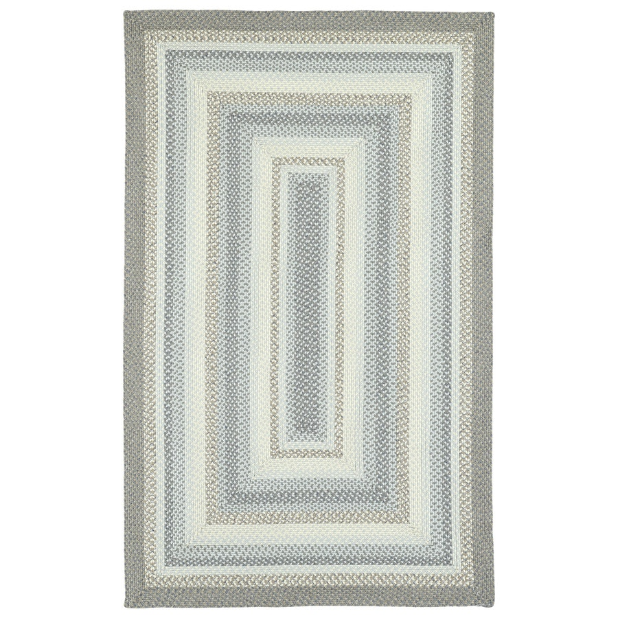 Kaleen Bimini Graphite Rectangular Indoor/Outdoor Handcrafted Lodge Area Rug (Common: 5 x 7; Actual: 5-ft W x 8-ft L x 0-ft Dia)