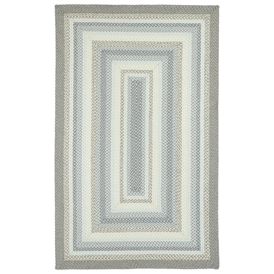 Kaleen Bimini Graphite Indoor/Outdoor Handcrafted Lodge Area Rug (Common: 9 x 12; Actual: 9-ft W x 12-ft L)
