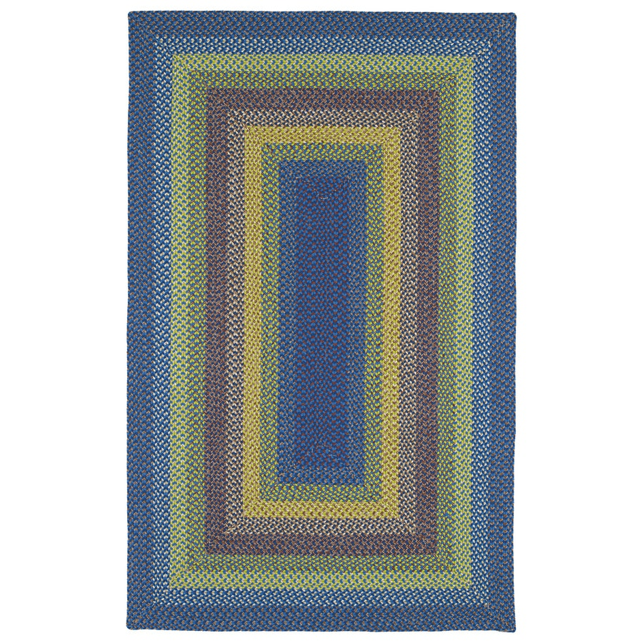 Kaleen Bimini Multi Rectangular Indoor/Outdoor Handcrafted Lodge Area Rug (Common: 5 x 7; Actual: 5-ft W x 8-ft L x 0-ft Dia)