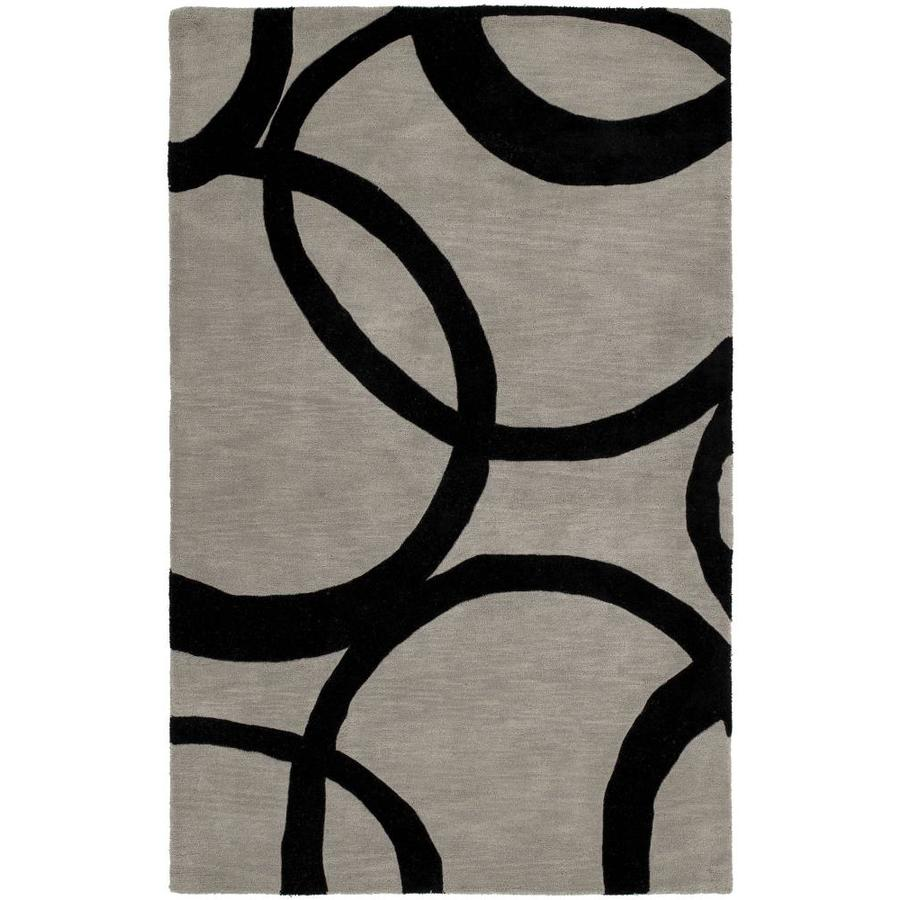 Kaleen Astronomy Graphite Rectangular Indoor Handcrafted Educational Area Rug (Common: 8 x 10; Actual: 7.5-ft W x 9-ft L)