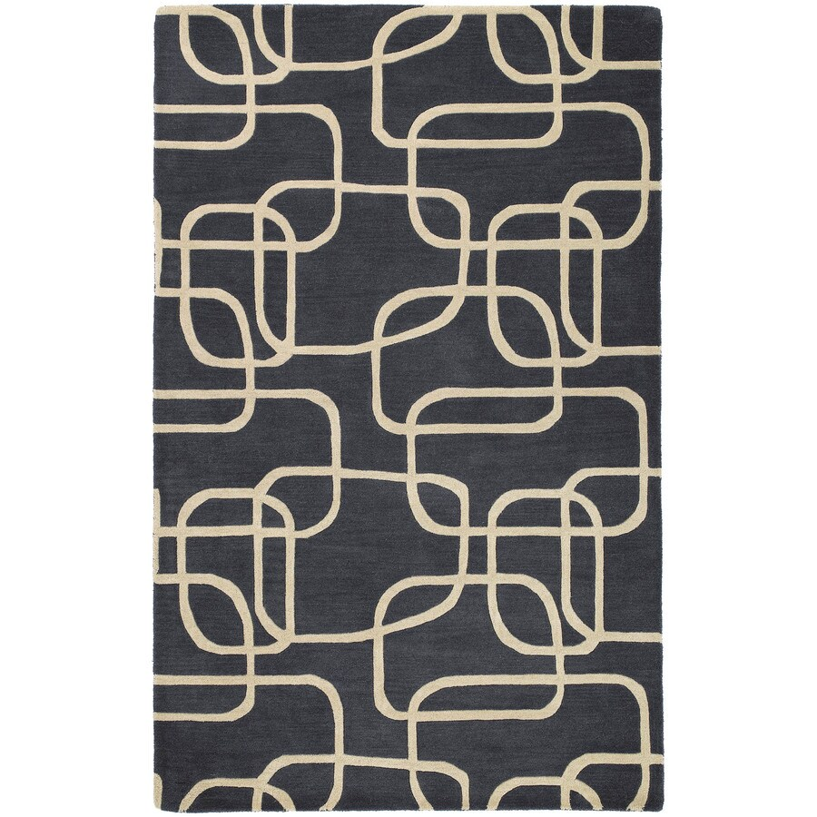 Kaleen Astronomy Ebony Rectangular Indoor Handcrafted Educational Area Rug (Common: 9 x 12; Actual: 9.5-ft W x 13-ft L x 0-ft Dia)