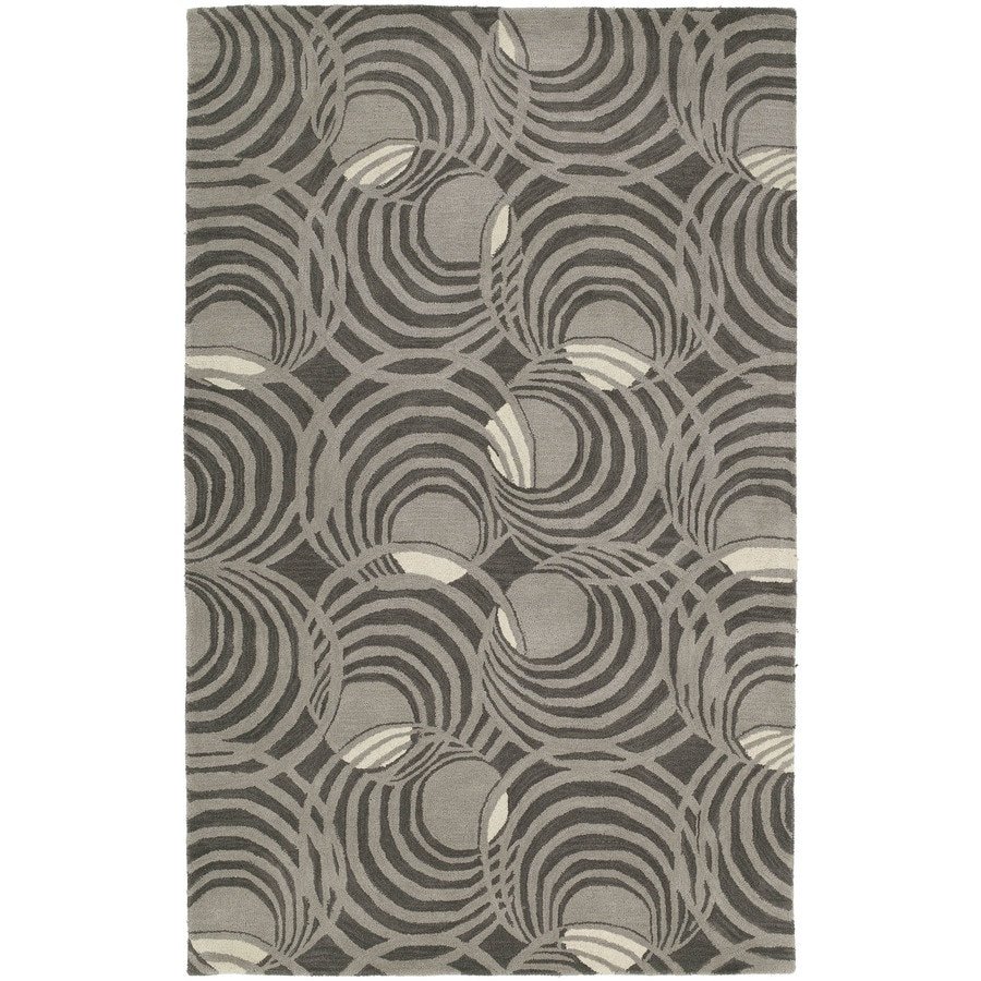 Kaleen Astronomy Graphite Rectangular Indoor Handcrafted Novelty Area Rug (Common: 9 x 12; Actual: 9.5-ft W x 13-ft L)