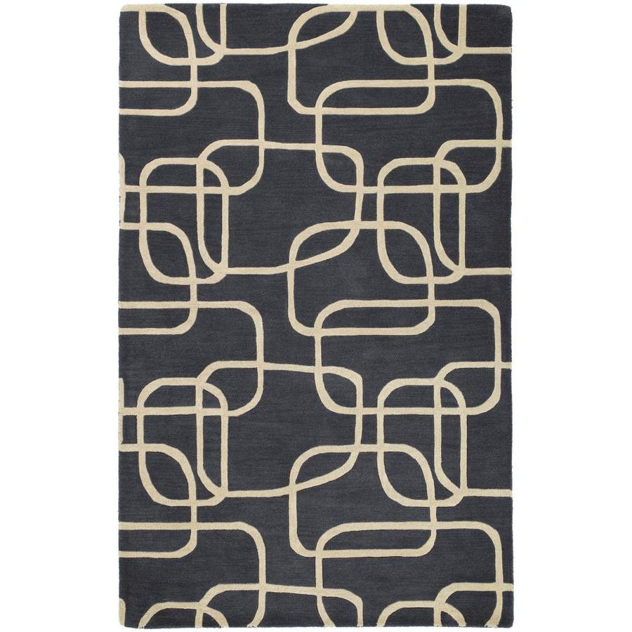 Kaleen Astronomy Ebony Indoor Handcrafted Novelty Throw Rug (Common: 2 x 3; Actual: 2-ft W x 3-ft L)