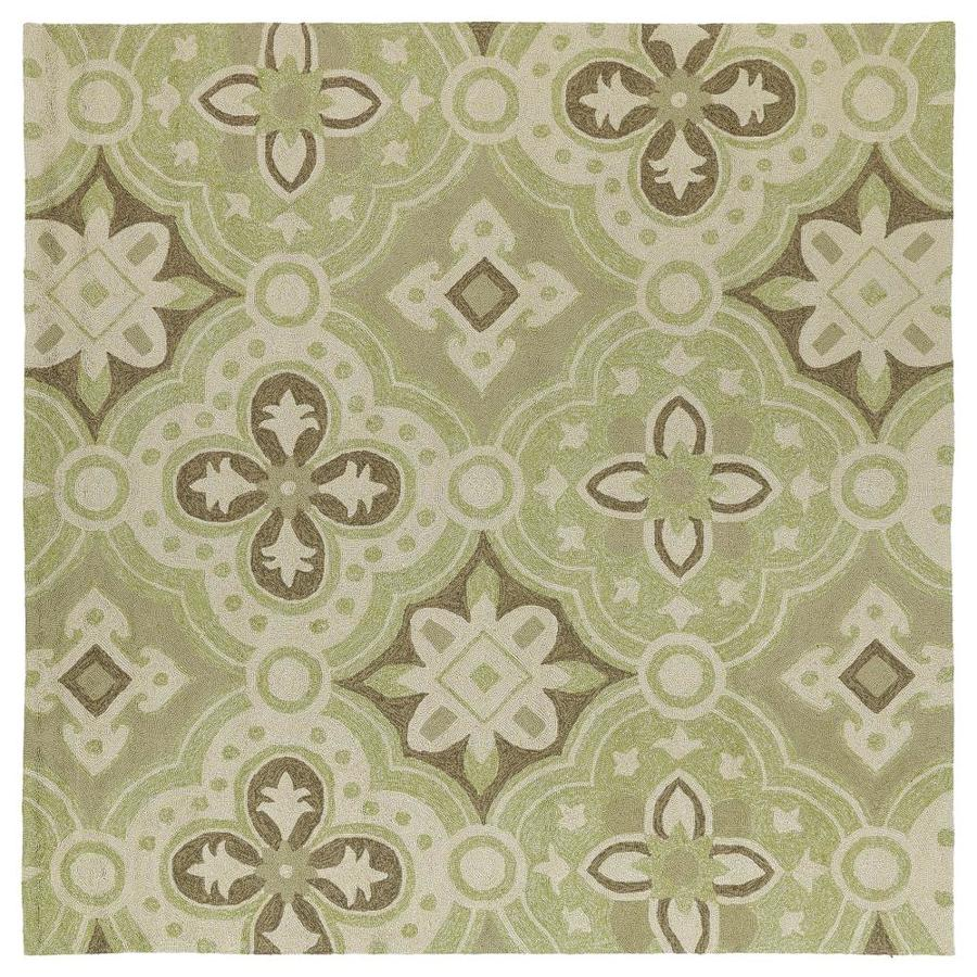 Kaleen Habitat Wasabi Square Indoor/Outdoor Handcrafted Nature Area Rug (Common: 6 x 6; Actual: 5.75-ft W x 5.75-ft L)