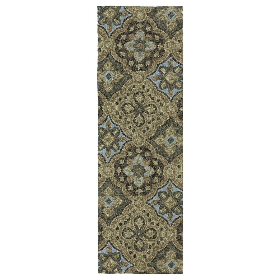Kaleen Habitat Mocha Rectangular Indoor/Outdoor Handcrafted Nature Runner (Common: 2X8; Actual: 2.5-ft W x 8-ft L)