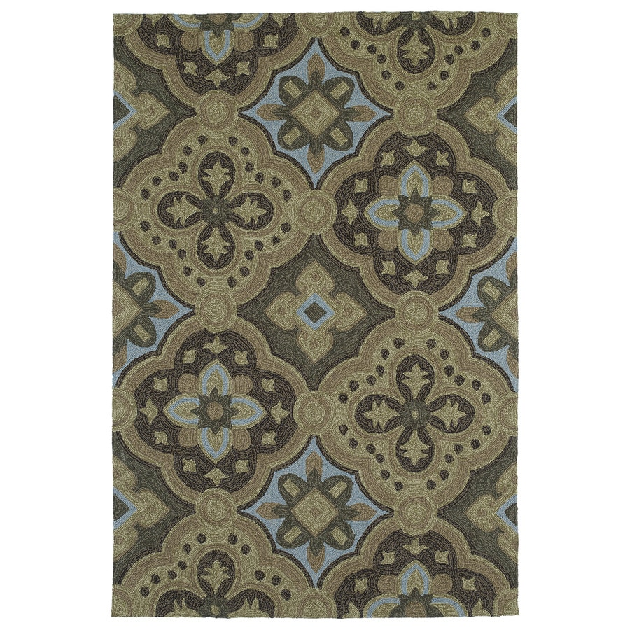 Kaleen Habitat Mocha Rectangular Indoor/Outdoor Handcrafted Nature Area Rug (Common: 4 x 6; Actual: 4-ft W x 6-ft L)