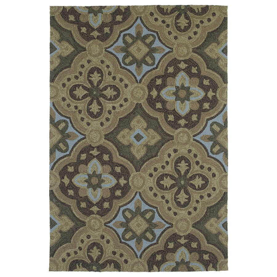 Kaleen Habitat Mocha Rectangular Indoor and Outdoor Tufted Area Rug (Common: 8 x 10; Actual: 96-in W x 120-in L)