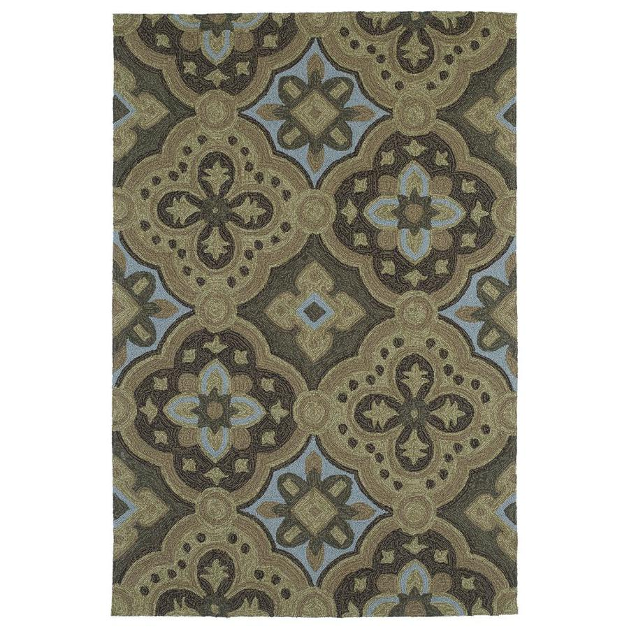 Kaleen Habitat Mocha Rectangular Indoor/Outdoor Handcrafted Nature Area Rug (Common: 10 x 14; Actual: 10-ft W x 14-ft L)