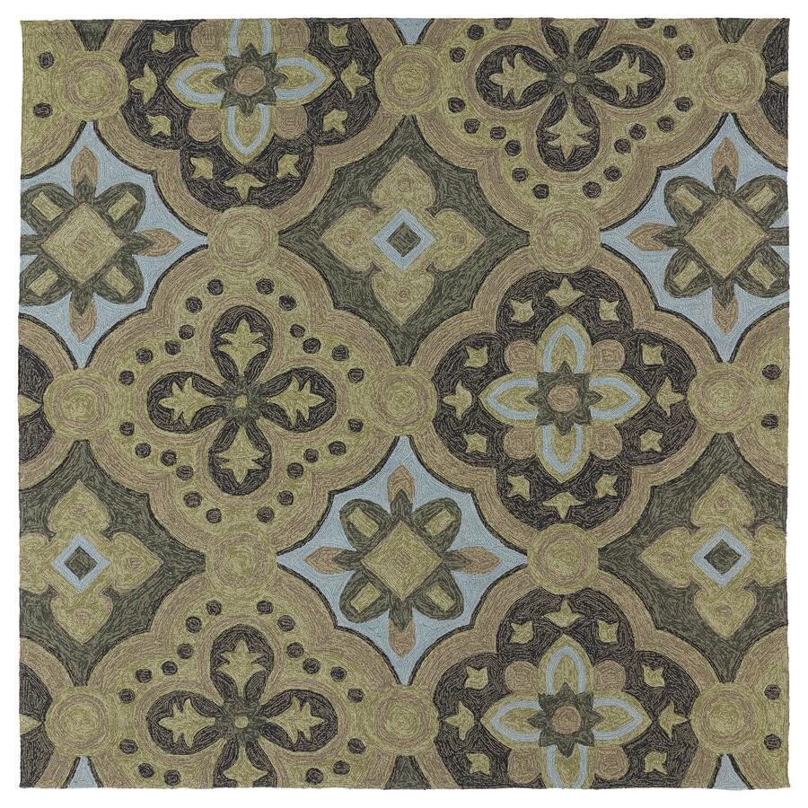 Kaleen Habitat Mocha Square Indoor and Outdoor Tufted Area Rug (Common: 6 x 6; Actual: 69-in W x 69-in L)