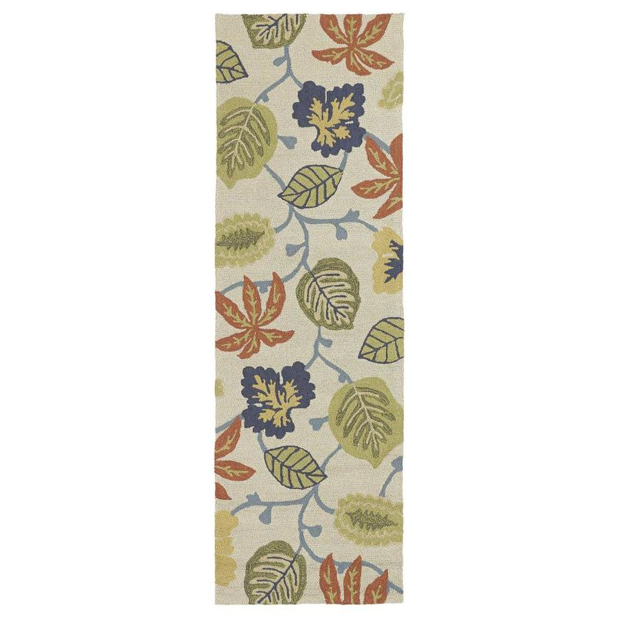 Kaleen Habitat Linen Indoor/Outdoor Handcrafted Nature Runner (Common: 3 x 8; Actual: 2.5-ft W x 8-ft L)