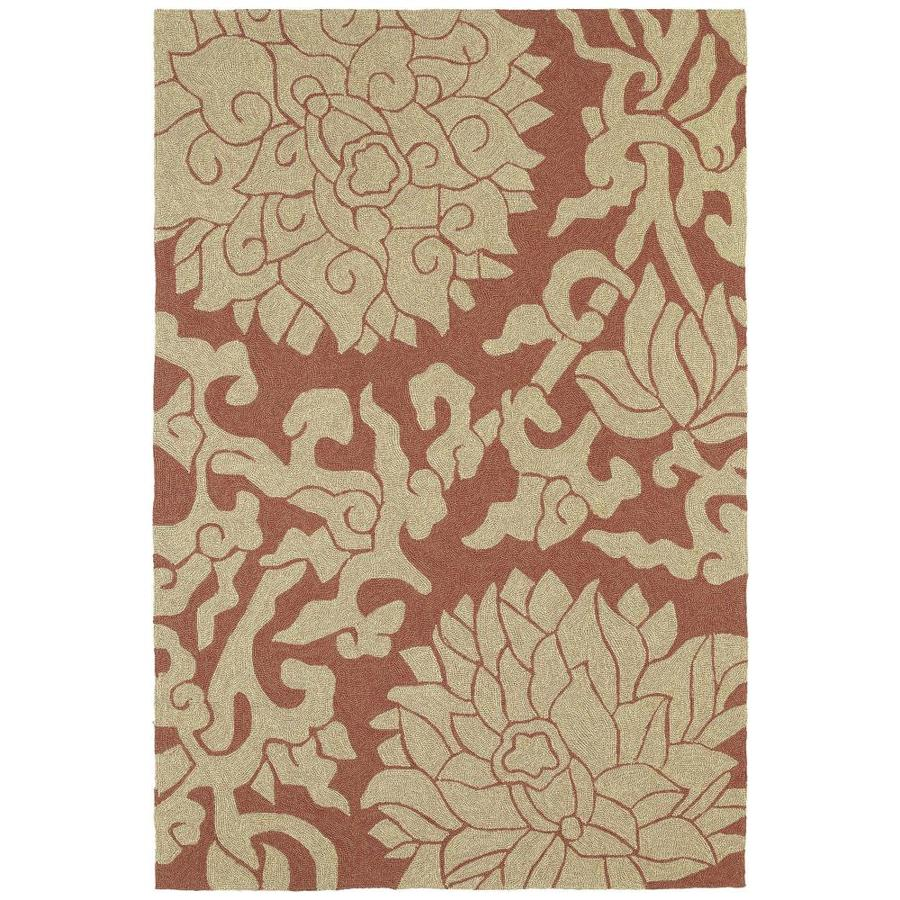 Kaleen Habitat Paprika Indoor/Outdoor Handcrafted Nature Area Rug (Common: 9 x 12; Actual: 9-ft W x 12-ft L)