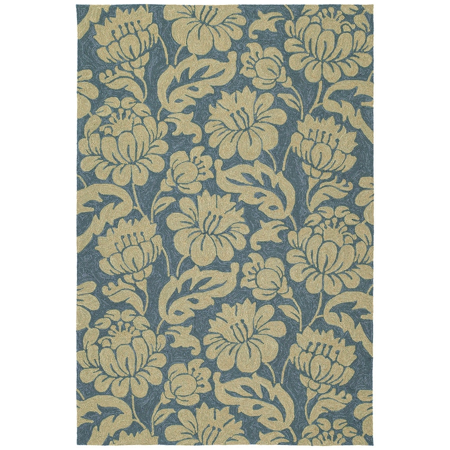 Kaleen Habitat Azure Rectangular Indoor/Outdoor Handcrafted Nature Area Rug (Common: 5 x 8; Actual: 5-ft W x 7.5-ft L)