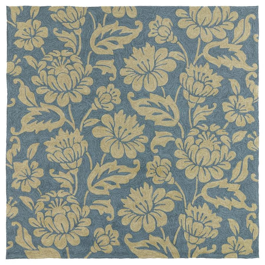 Kaleen Habitat Azure 5-ft9-in SQ. Area Rug