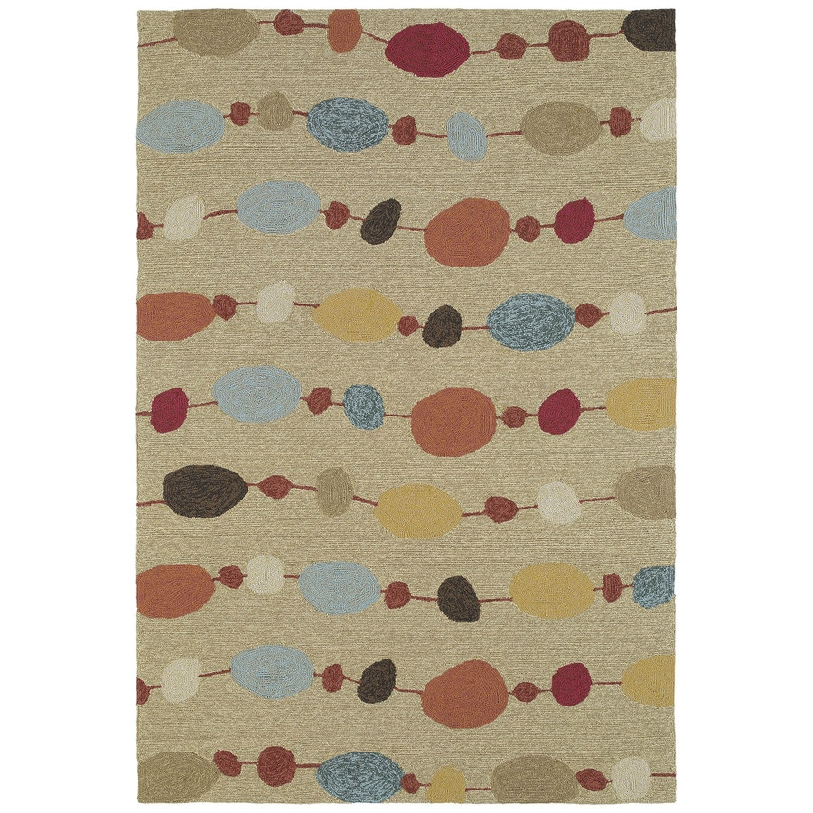 Kaleen Habitat Sand Rectangular Indoor and Outdoor Tufted Area Rug (Common: 5 x 8; Actual: 60-in W x 90-in L)