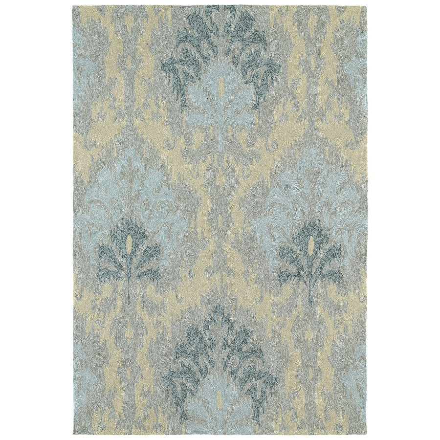 8x10 Indoor Outdoor Area Rugs: Kaleen Habitat Spa Indoor/Outdoor Handcrafted Southwestern