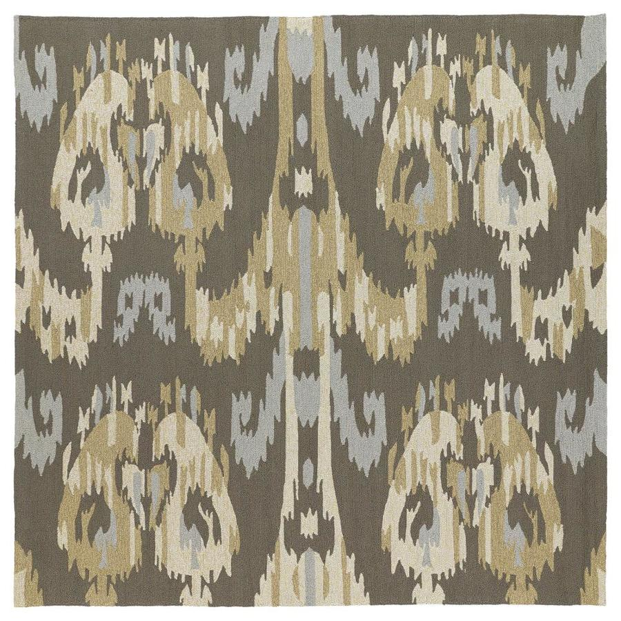 Kaleen Habitat Graphite Square Indoor/Outdoor Handcrafted Novelty Area Rug (Common: 8 x 8; Actual: 7.75-ft W x 7.75-ft L)