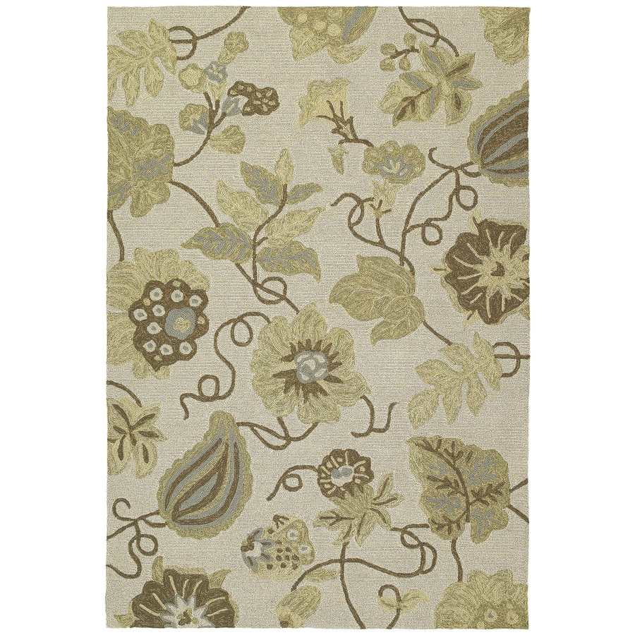 Kaleen Habitat Linen Rectangular Indoor/Outdoor Handcrafted Nature Area Rug (Common: 4 x 6; Actual: 4-ft W x 6-ft L)