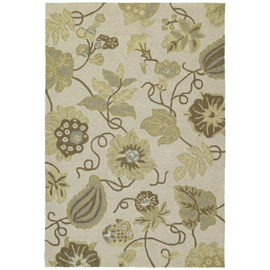 Kaleen Habitat Linen Indoor/Outdoor Handcrafted Nature Area Rug (Common: 9 x 12; Actual: 9-ft W x 12-ft L)
