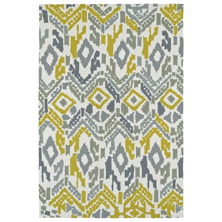 Kaleen Habitat Grey Rectangular Indoor/Outdoor Handcrafted Novelty Area Rug (Common: 10 x 14; Actual: 10-ft W x 14-ft L)