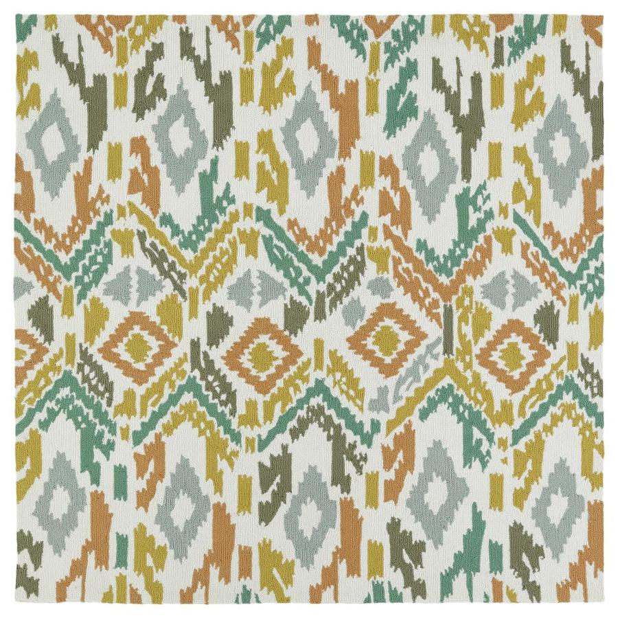 Kaleen Habitat Multi Square Indoor/Outdoor Handcrafted Novelty Area Rug (Common: 6 x 6; Actual: 5.75-ft W x 5.75-ft L)