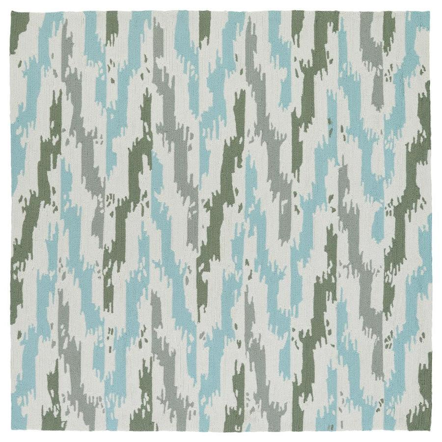 Kaleen Habitat Ivory Square Indoor/Outdoor Handcrafted Southwestern Area Rug (Common: 8 x 8; Actual: 7.9-ft W x 7.9-ft L)