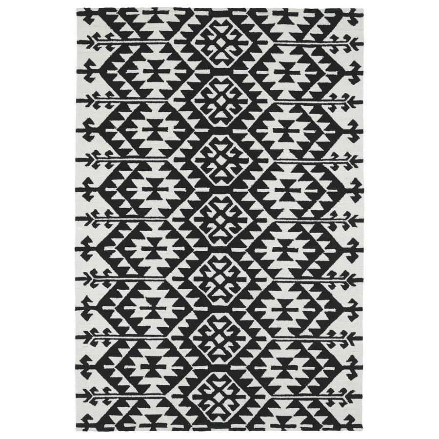 Kaleen Habitat Black Rectangular Indoor/Outdoor Handcrafted Novelty Throw Rug (Common: 2 x 3; Actual: 2-ft W x 3-ft L)