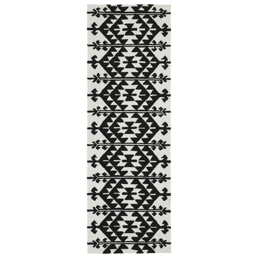 Kaleen Habitat Black Rectangular Indoor/Outdoor Handcrafted Novelty Runner (Common: 3 x 8; Actual: 2.5-ft W x 8-ft L)