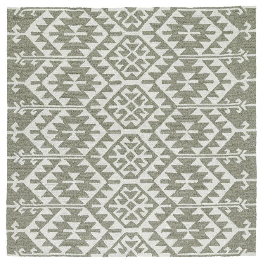 Kaleen Habitat Taupe Square Indoor/Outdoor Handcrafted Novelty Area Rug (Common: 6 x 6; Actual: 5.75-ft W x 5.75-ft L)