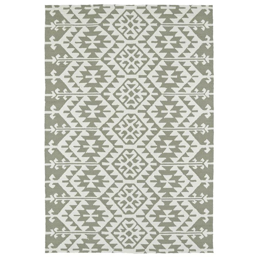 Kaleen Habitat Taupe Rectangular Indoor/Outdoor Handcrafted Novelty Area Rug (Common: 8 x 10; Actual: 8-ft W x 10-ft L)