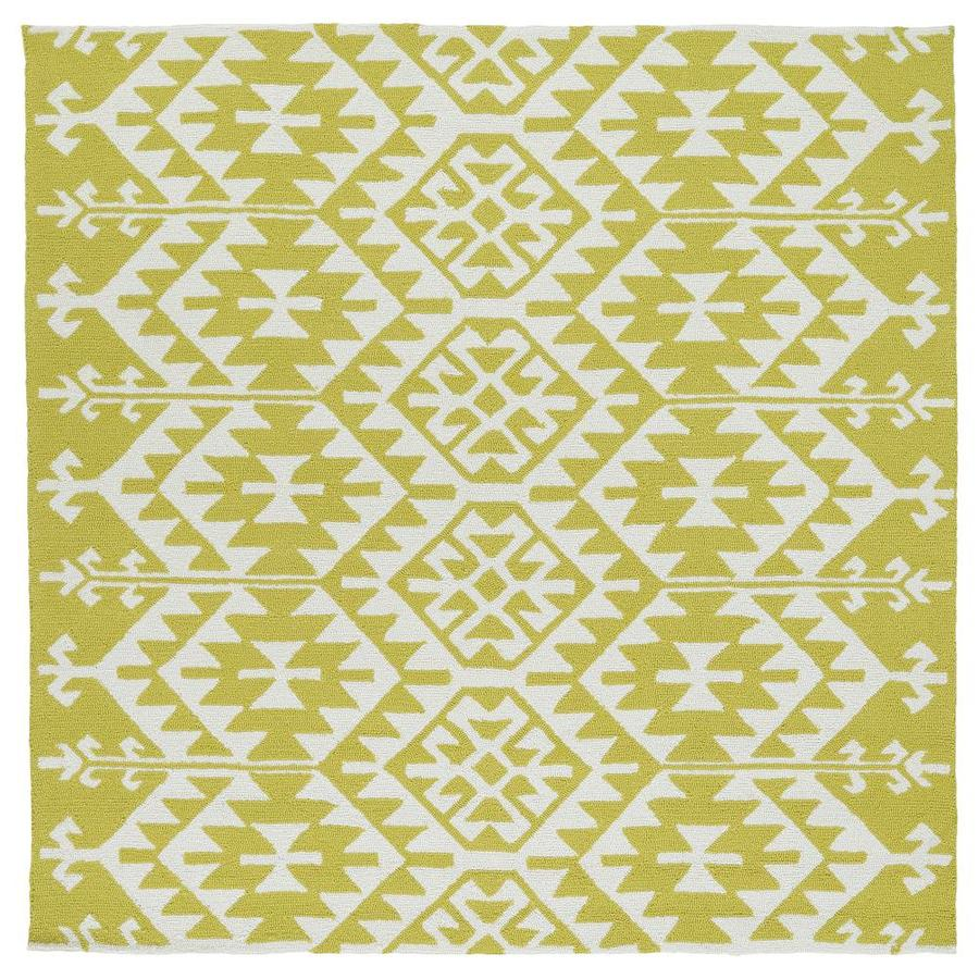 Kaleen Habitat Wasabi Square Indoor/Outdoor Handcrafted Novelty Area Rug (Common: 6 x 6; Actual: 5.75-ft W x 5.75-ft L)