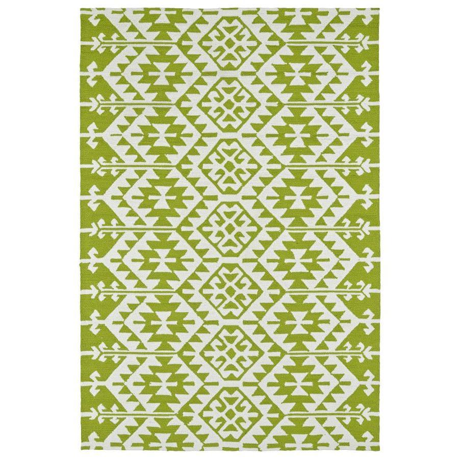 Kaleen Habitat Lime Green Indoor/Outdoor Handcrafted Novelty Throw Rug (Common: 2 x 3; Actual: 2-ft W x 3-ft L)