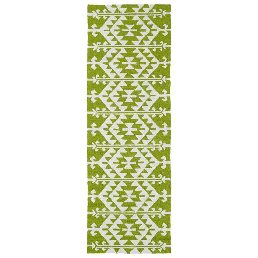 Kaleen Habitat Lime Green Rectangular Indoor/Outdoor Handcrafted Novelty Runner (Common: 3 x 8; Actual: 2.5-ft W x 8-ft L)