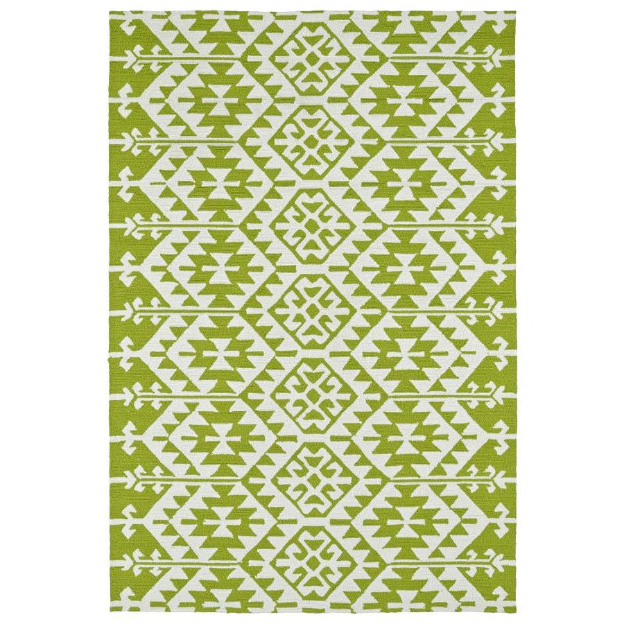 Kaleen Habitat Lime Green Rectangular Indoor/Outdoor Handcrafted Novelty Area Rug (Common: 4 x 6; Actual: 4-ft W x 6-ft L)