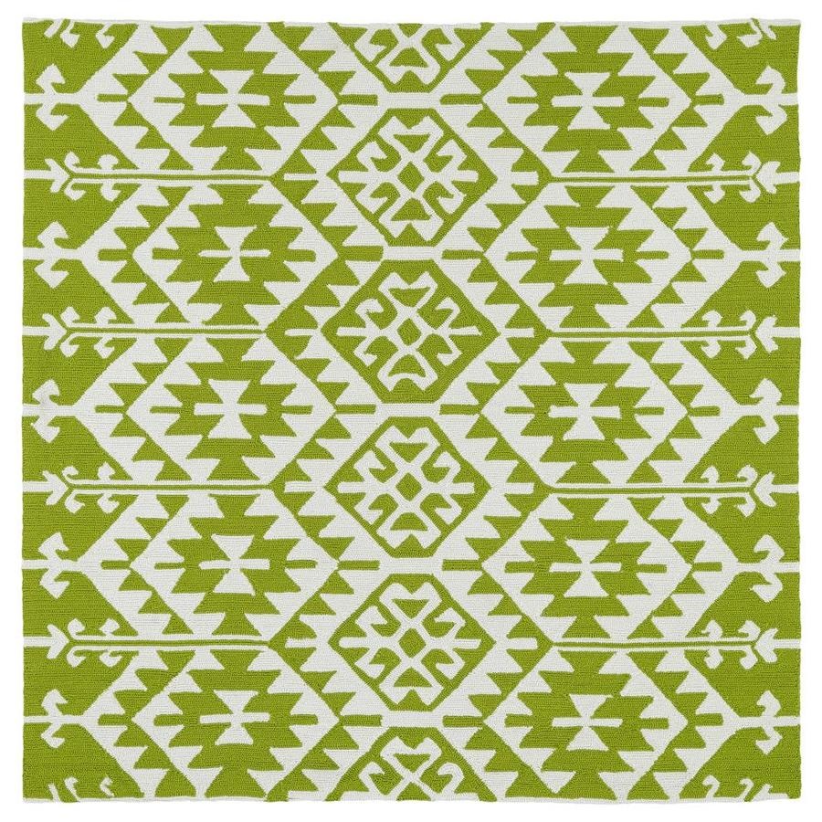 Kaleen Habitat Lime Green Square Indoor/Outdoor Handcrafted Novelty Area Rug (Common: 8 x 8; Actual: 7.75-ft W x 7.75-ft L)