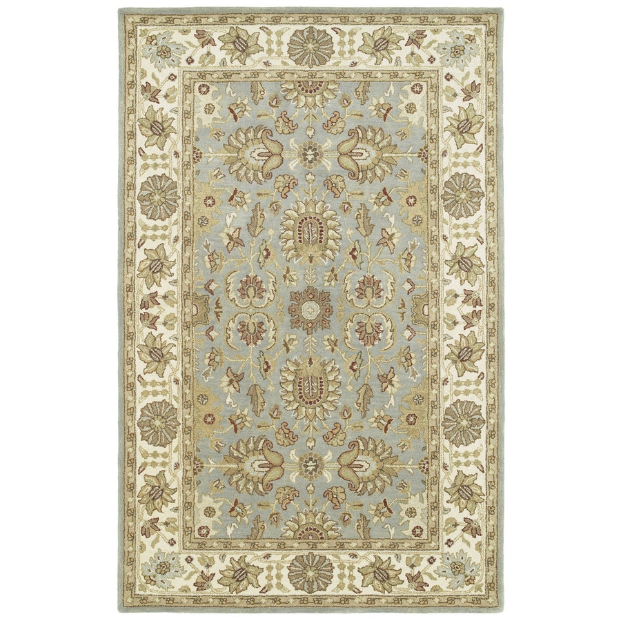 Kaleen Heirloom Spa Rectangular Indoor Tufted Area Rug (Common: 4 x 6; Actual: 48-in W x 72-in L)