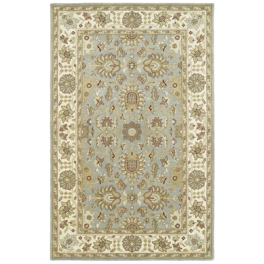 Kaleen Heirloom Spa Rectangular Indoor Handcrafted Oriental Area Rug (Common: 10 x 14; Actual: 10-ft W x 14-ft L)