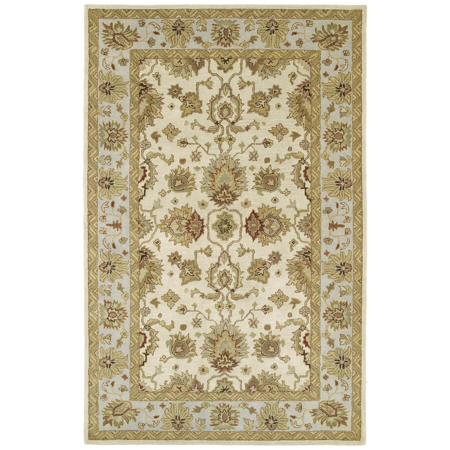 Kaleen Heirloom Ivory Rectangular Indoor Tufted Area Rug (Common: 8 x 10; Actual: 96-in W x 120-in L)