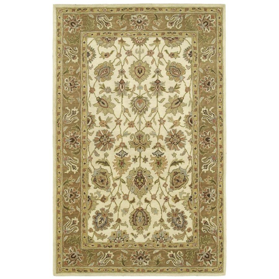 Kaleen Heirloom Linen Rectangular Indoor Handcrafted Oriental Area Rug (Common: 10 x 14; Actual: 10-ft W x 14-ft L)